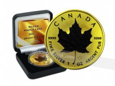 Canada Maple Leaf 2020 zilver gold Gilded + Ruthenium finish