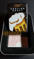 Zippo lighter MILLER BEER GENUINE DRAFT 1999. Black Matte Finish