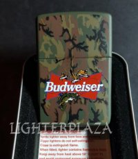 Zippo Budweiser Beer with Fish Logo Design