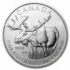 5 Dollars 1 oz Maple Leaf Moose 2013