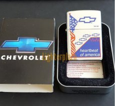 Zippo Chevy Flag Heartbeat of America