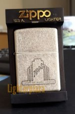 "Zippo Antique Silver Plate ""A Week's Trial..."""