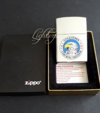 Zippo lighter Operation Enduring Freedom - High Polish Chrome. Gratis verzending binnen Nederland.