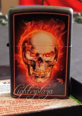 Zippo lighter Burning Skull