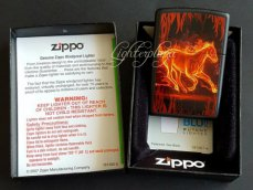 Zippo lighter Horse Flaming