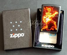 Zippo lighter Guitarist Flaming