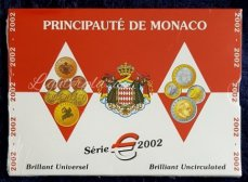 Monaco Jaar set BU 2002 in Blister